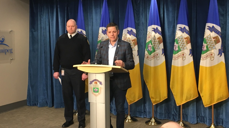 Mayor Brian Bowman at a press conference on March 14. (Source: CTV News/Zach Kitchen)