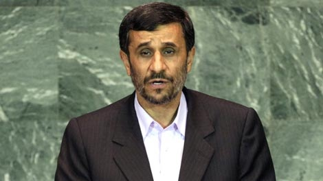 Mahmoud Ahmadinejad, president of Iran, addresses the 64th session of the United Nations General Assembly, Wednesday, Sept. 23, 2009. (AP / Richard Drew)