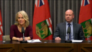 Lanette Siragusa (left), chief nursing officer with Shared Health, and Dr. Brent Roussin, Manitoba's chief provincial public health officer, provide an update on Manitoba's COVID-19 cases (CTV News file photo).