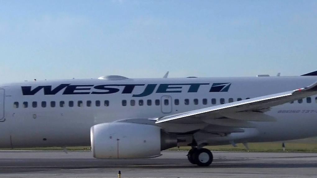 A WestJet plane.
