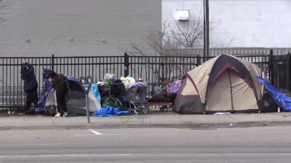 Homeless camp in London, Ont.