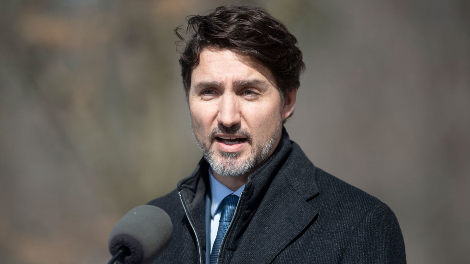 Prime Minister Justin Trudeau speaks to the media about Canadian measures to counter the COVID-19 virus in Ottawa, Monday March 16, 2020. THE CANADIAN PRESS/Adrian Wyld