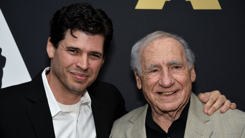 Mel Brooks and son
