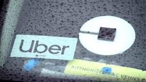 Uber is suspending the pooled ride component of its service in the U.S. and Canada to prevent the spread of the novel coronavirus. (Justin Sullivan/Getty Images)