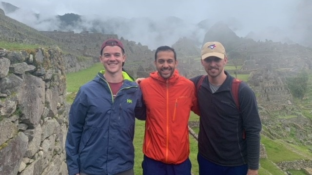 Ian Melanson, Neal Andreino and Jordan Taggart are seen in Peru. (Courtesy: Anne Melanson)