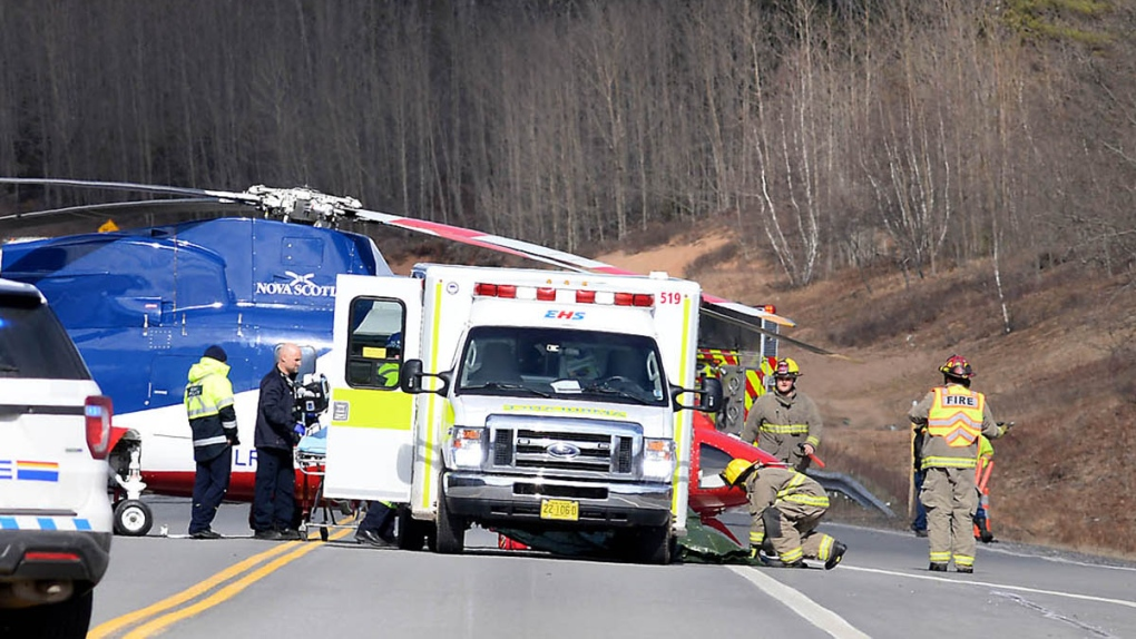 Highway crash on Highway 101