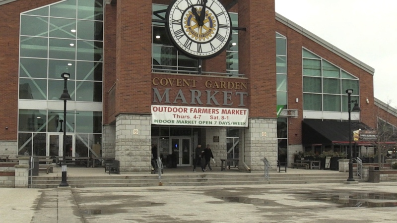 Covent Garden Market in London, Ont. is seen on Tuesday, March 17, 2020. (Jordyn Read / CTV London)