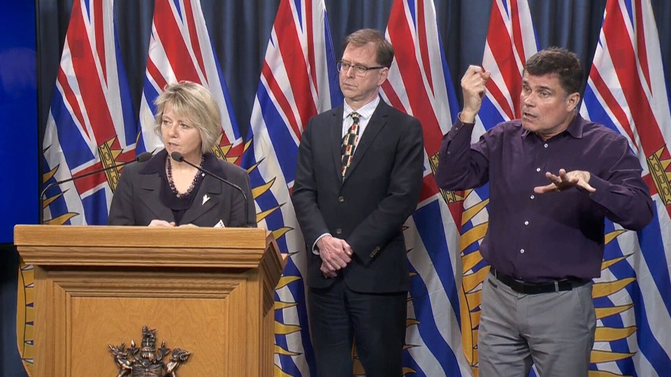 B.C. chief health officer Dr. Bonnie Henry answers questions from the media on March 17, 2020. (CTV News)