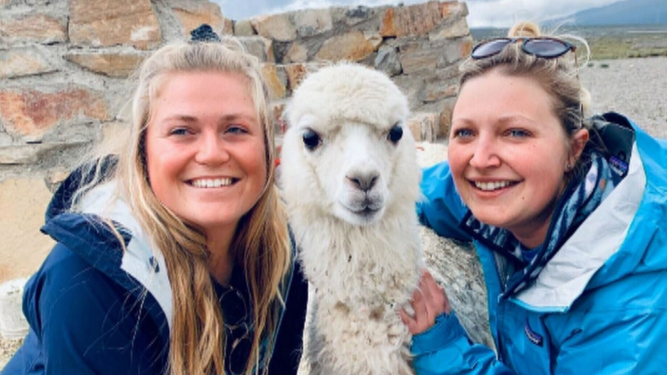 Danielle Hennink and Cathryn Edgar are stuck in Peru after the country ordered a national lockdown and suspended all international air travel for 15 days.
