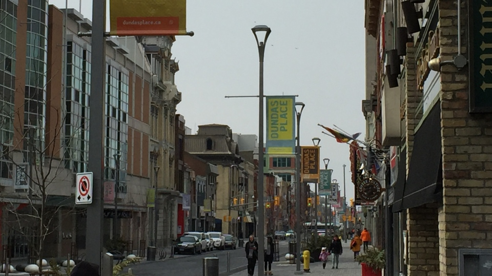 Dundas Place in London, Ont.