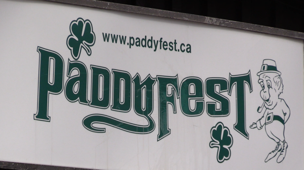 Paddyfest sign