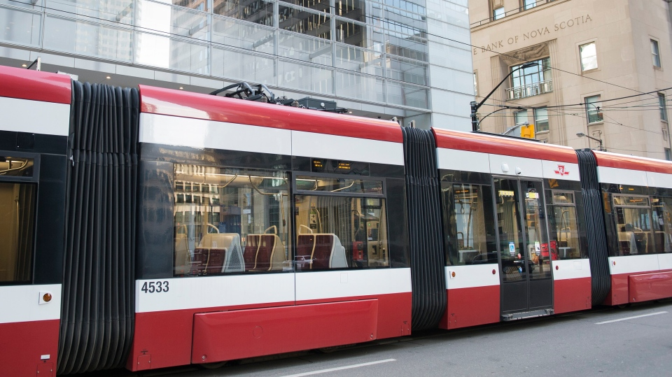 Empty streetcar