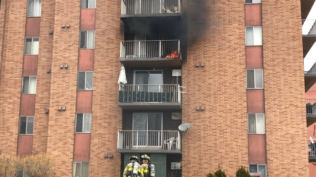 Discarded cigarette behind Windsor apartment fire