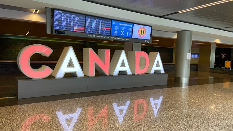 As of Feb. 4, Calgary International Airport is one of only four airports in Canada where international flights may land. (file)
