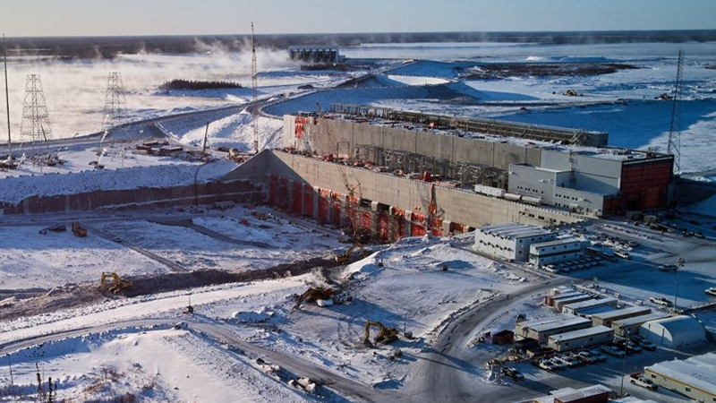 A picture of the Manitoba Hydro Keeyask Generating Station. (Source: Manitoba Hydro)