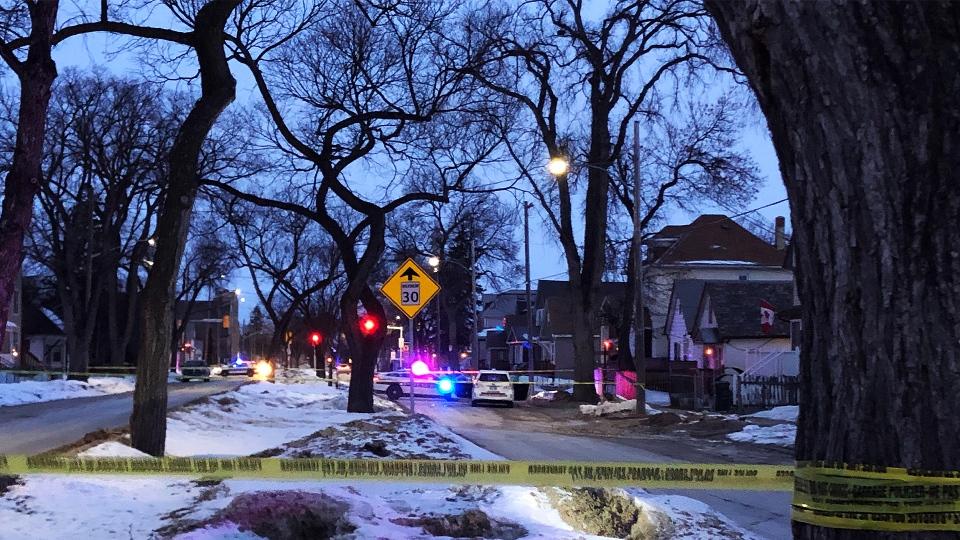 Police on Burrows Avenue
