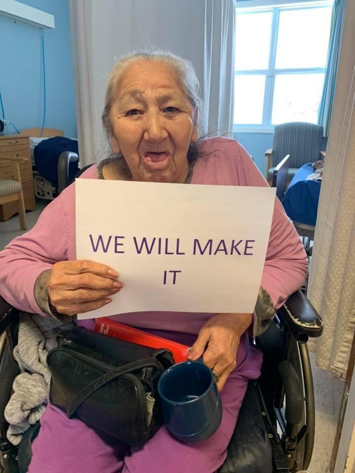 Wikwemikong Nursing Home resident's positive sign