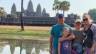 Dwight and Amy Irwin and their daughters are seen in Angor Wat, Cambodia in this undated family photo. (Source: Amy Irwin)