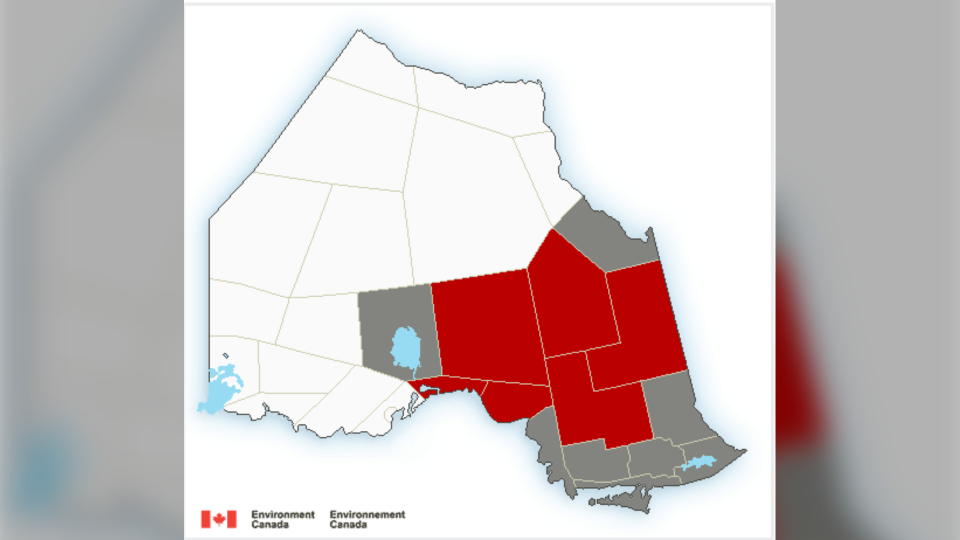Northern Ontario weather alerts issued by Environment Canada Mar. 19/20 (Environment Canada)