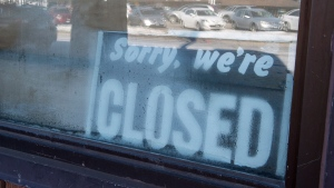 Sorry we're closed THE CANADIAN PRESS/Staff