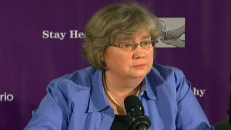 Dr. Arlene King updates Ontario's H1N1 swine flu vaccine plans on Thursday, Sept. 24, 2009.