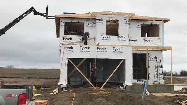 Home construction in London, Ont.