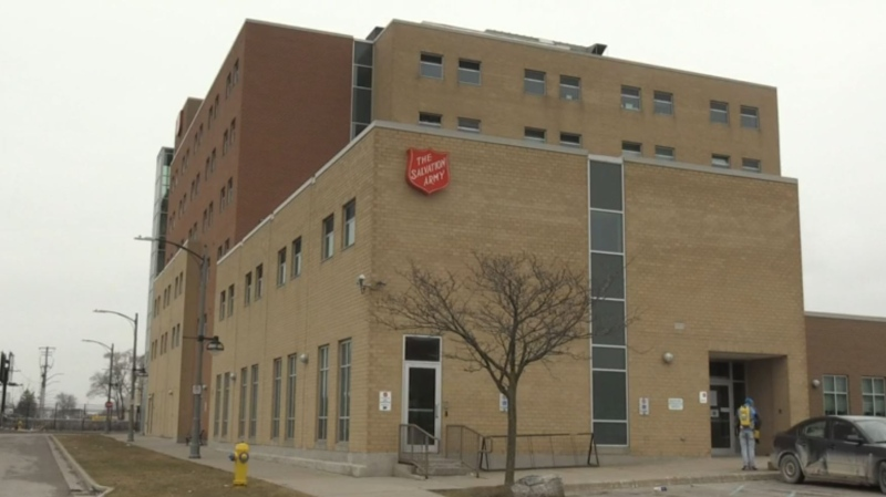 The Salvation Army Centre of Hope in London, Ont. is seen Thursday, March 19, 2020. (Jim Knight / CTV London)