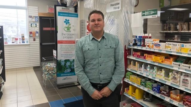 Andrew Buffett, at his pharmacy