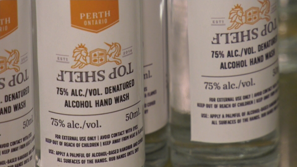 Distillery branches out to make sanitizer