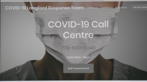 Langford's new COVID-19 response team website is shown: March 20, 2020 (City of Langford)