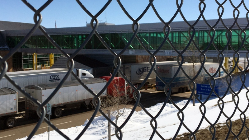 The Coutts Border Crossing on Mar. 21, 2020. (Vanessa Arrate/CTV News Calgary)