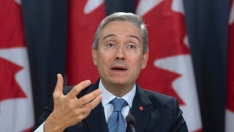 Minister of Foreign Affairs Francois-Philippe Champagne responds to a question during a news conference in Ottawa, Monday, March 9, 2020. THE CANADIAN PRESS/Adrian Wyld