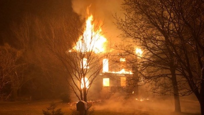 A home in West Perth in consumed by Fire on Monday, March 23, 2020. (Source: OPP)