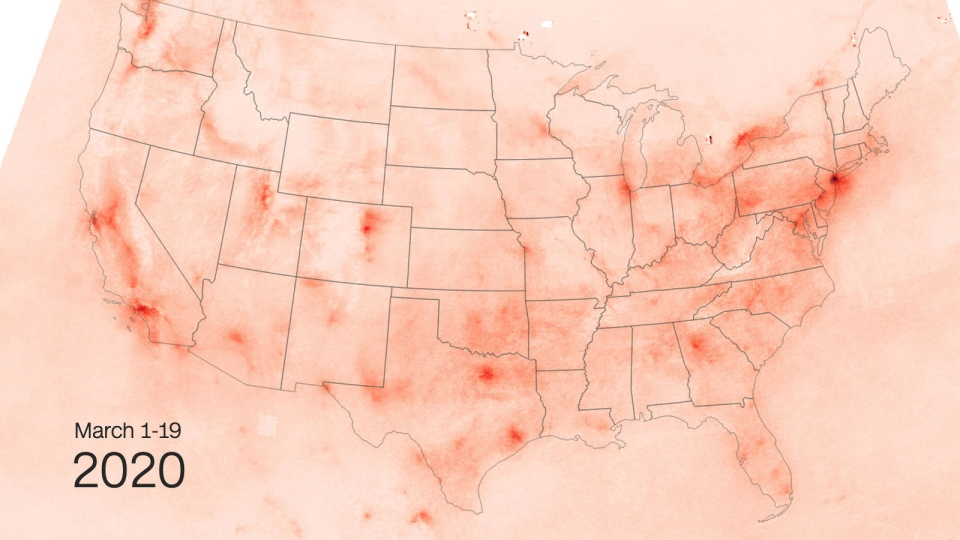 U.S. pollution map