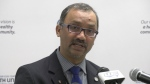 Windsor-Essex medical officer of health Dr. Wajid Ahmed in Windsor, Ont., on Monday, March 23, 2020. (Ricardo Veneza / CTV Windsor)