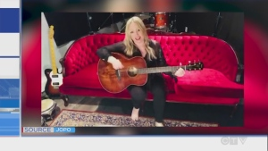 Watch northern Ontario musician JoPo perform a Bob Marley medley from her red velvet couch.
