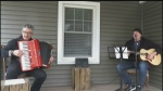 Amazing Grace on porch