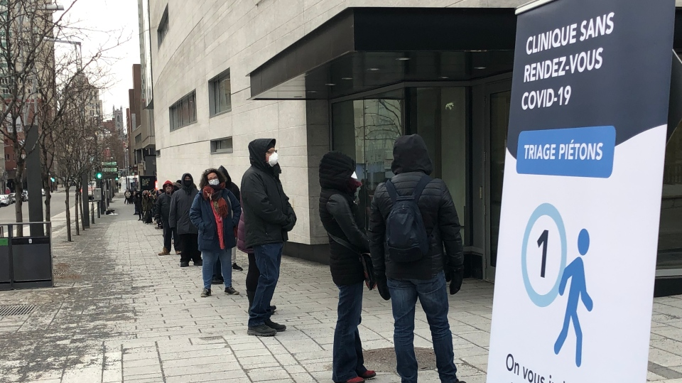Thousands line up to be tested for COVID-19 in Montreal.