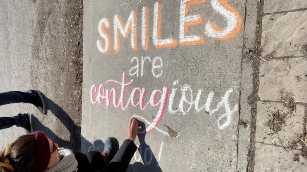 sidewalk chalk New Edinburgh