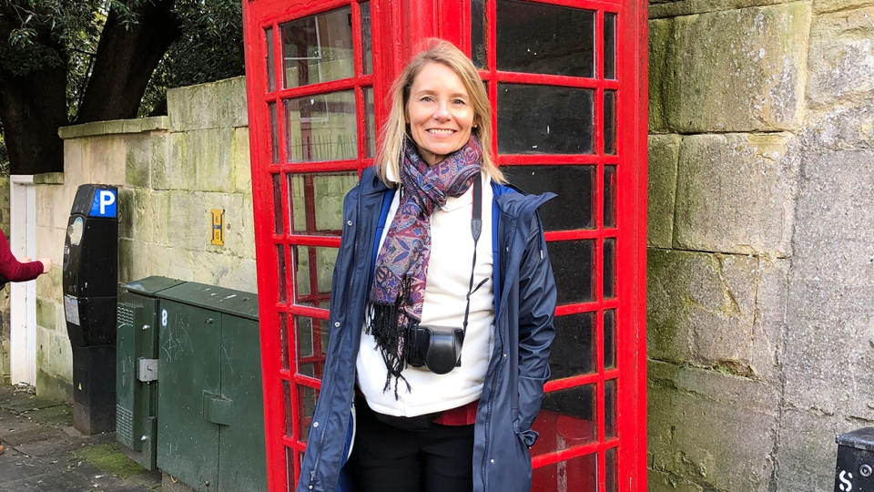 Listowel District Secondary School Principal Kim Crawford is seen in Europe in this provided photo.