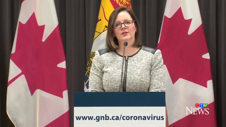 Dr. Jennifer Russell, New Brunswick's chief medical officer of health, provides an update on COVID-19 on March 24, 2020.