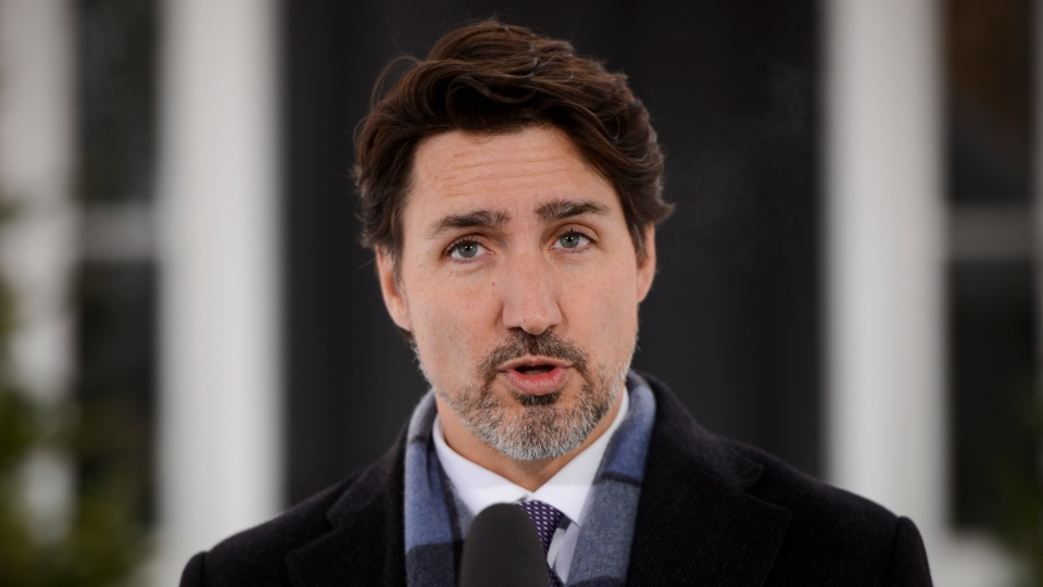 Prime Minister Justin Trudeau addresses Canadians on the COVID-19 situation from Rideau Cottage in Ottawa on Tuesday, March 24, 2020. THE CANADIAN PRESS/Sean Kilpatrick