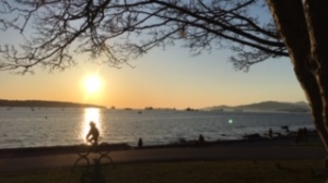 'Biking and social distancing' captured by Weather Watch by CTV Vancouver app user Cecile.