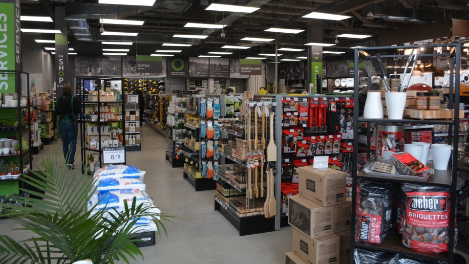 Interior of a hardware store
