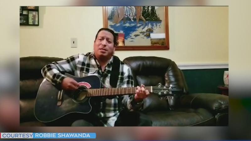 Manitoulin Island's Robbie Shawana sings Jambalaya