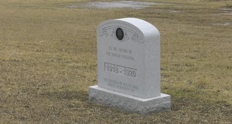 The Spanish Flu memorial in the Regina Cemetery
