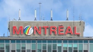 Montreal's Trudeau Airport takes part in rainbow campaign for COVID-19. (Credit: Aéroport de Montréal)