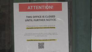 service canada closed