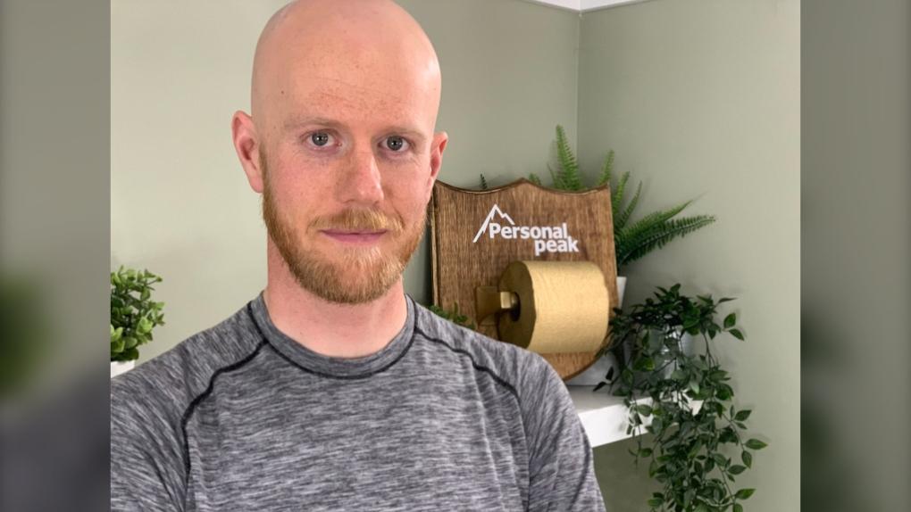 Travis Schiller-Brown, golden roll, toilet paper,