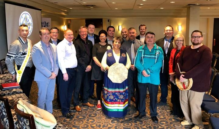 The Nova Scotia bid committee for the 2020 North America Indigenous Games. (Photo courtesy: Nova Scotia Department of Communities, Culture and Heritage)